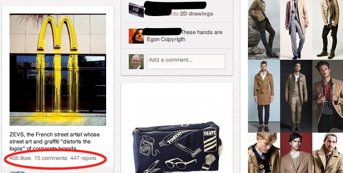Manche Bilder verbreiten sich auf Pinterest rasant