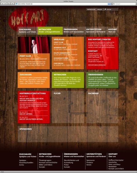 Die Startseite der neuen Website des HoffART-Theaters