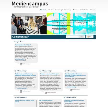 Die Idee des Campusradar ist, Website-Besuchern einen Überblick zu den vielfältigen Projekten der Studiengänge zu geben.