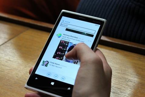 Echtzeitkommunikation: Ein Fall für Twiter. Hier beim BarCamp Rhein-Main. Foto. N.M. Grün