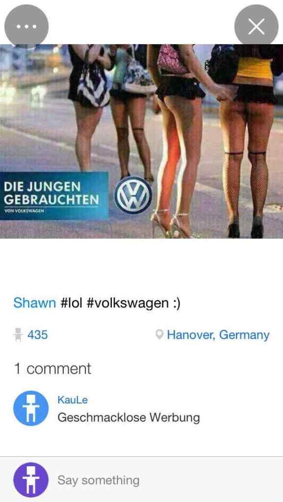 Haben da die VW-Werber furchtbar daneben gegriffen oder ist das ein Fake? Plague-Nutzer werden das kaum erfahren.