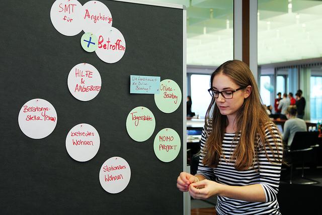 Erst mal verstehen, was der Projektpartner alles macht. Impression vom dritten Communication Camp.